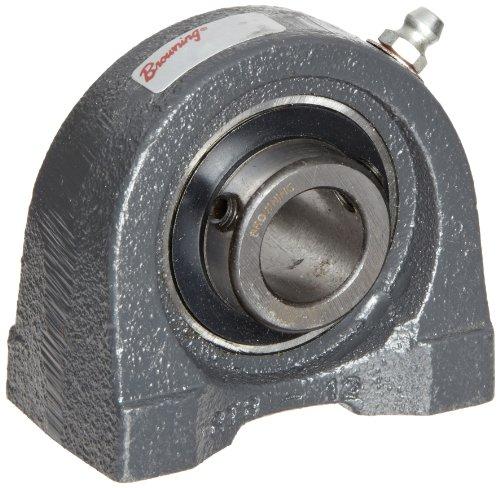 Browning VTBS-222 Pillow Block Ball Bearing, 2 Bolt, Setscrew Lock, Contact and Flinger Seal, Cast Iron, Inch, 1-3/8