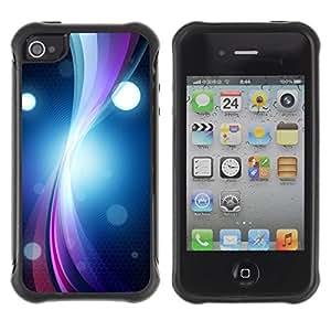 LASTONE PHONE CASE / Suave Silicona Caso Carcasa de Caucho Funda para Apple Iphone 4 / 4S / Ring Vibrant Circle Lines Bright Black Art