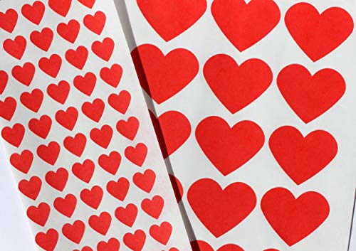 - Bakers Bling Jumbo and Mini Red Heart Stickers