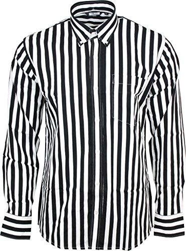 Relco - Herren Hemd langärmelig gestreift 100% Baumwolle