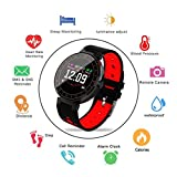 Smart Watch,Fitness Tracker with Heart Rate Monitor, Activity Tracker with IP68 Waterproof, Sleep Monitor,Pedometer for Kids Women Men, Bluetooth Smartwatch with Blood Pressure for Samsung Android IOS