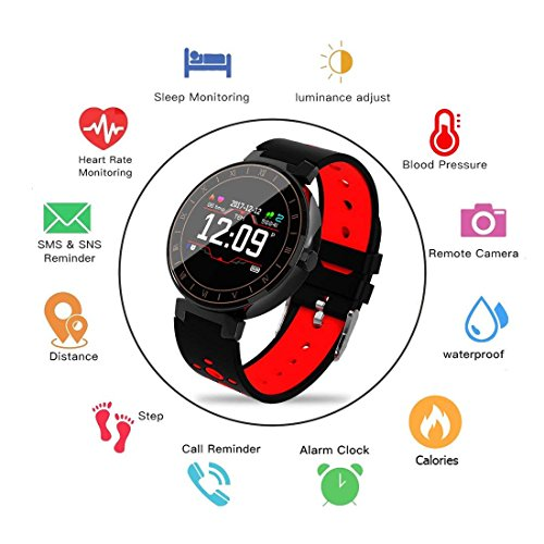 Smart Watch,Fitness Tracker with Heart Rate Monitor, Activity Tracker with IP68 Waterproof, Sleep Monitor,Pedometer for Kids Women Men, Bluetooth Smartwatch with Blood Pressure for Samsung Android IOS by uwinmo