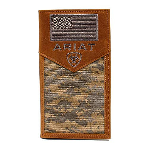 Ariat Men's Rodeo Digital Camo Wallet, Brown, OS