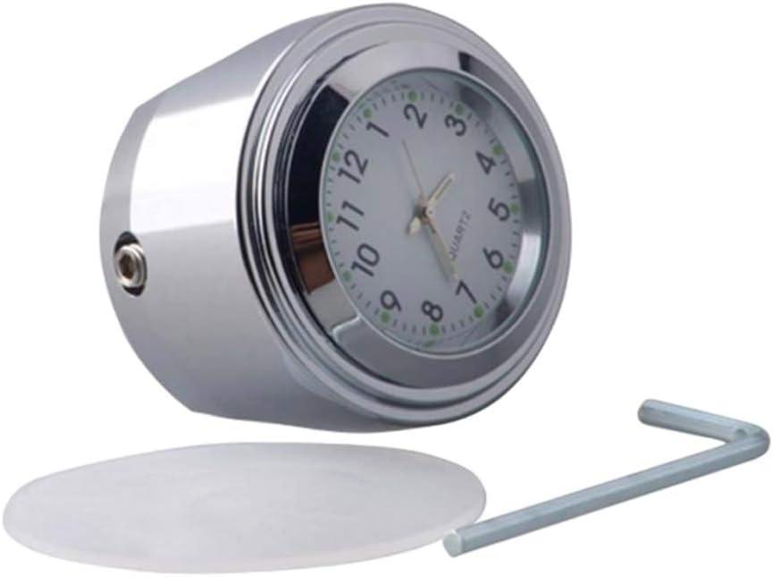 Wei/ß KESOTO 22// 25mm wasserdichte Lenker Uhr Hochwertiges Aluminium Lenkeruhr f/ür die meisten Motorr/äder