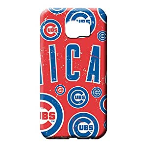 samsung galaxy s6 edge Hybrid Retail Packaging Snap On Hard Cases Covers cell phone carrying shells chicago cubs mlb baseball