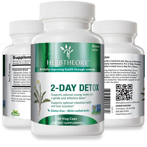 Herbtheory 2-Day Detox with Aloe Vera and Licorice (920mg, 60 Capsules)