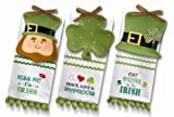 Grasslands Road So Lucky Celtic Leprechaun Shamrock Derby Hat Tidbit Dish and Message Tea Towel Three Styles, Set of 9