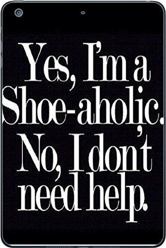 Funny Shopper Shoe-aholic Shoes iPad Mini 3 Vinyl Decal Sticker Skin by Debbie's Designs