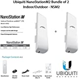 Ubiquiti NanoStationM2 Bundle of 2 NanoStationM Indoor/Outdoor airMAX CPE Router - NSM2