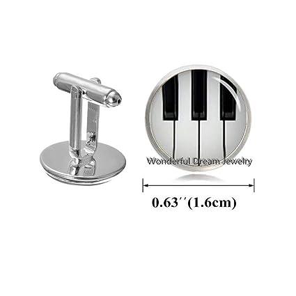 Amazoncom Waozshangu Piano Cufflinks Sheet Music Jewelry Piano
