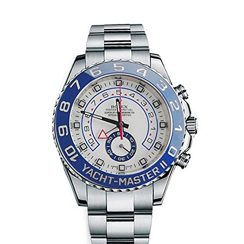 Rolex Yacht Master II 44mm White Dial Stainless Steel Men's Watch 116680 (Rolex Yacht Master Ii Stainless Steel Price)