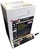Tower Sealants TS-00232 10.1 fl-Ounce Tower Tech 2 Acrylic Urethane Sealant, Black - Pack of 12