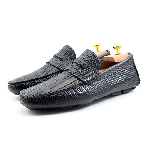 Car Cuir GIORGIO Shoes Mâle REA Classic Chaussures Main Noir Oxford Homme Élégant Mocassins Italiennes Noir Classique Shoes ttqp1xv