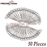 PRECISE CANADA: SET OF 50 SELF-LOCKING SPONGE FORCEPS CURVED 6'' BODY PIERCING STAINLESS STEEL