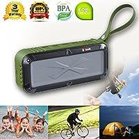 Portable Wireless Speaker, Outdoor Bluetooth Speaker,Shower Radio with 360 Surround Sound, HD Audio Enhanced Bass, Built-In Dual Driver Speaker, Bluetooth 4.0, Handsfree Calling, FM Radio and TF Card