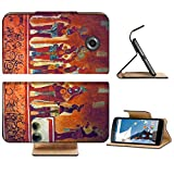Liili Premium Motorola Google Nexus 6 Flip Pu Leather Wallet Case IMAGE ID: 9845534 Many people on the fresco in museum antropology in Mexico
