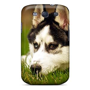 First-class Case Cover For Galaxy S3 Dual Protection Cover Husky Dog Resting by mcsharks