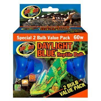 Zoo Med 2-Pack Daylight Blue Reptile Bulb, 60-watt by Zoo Med [Pet Supplies]