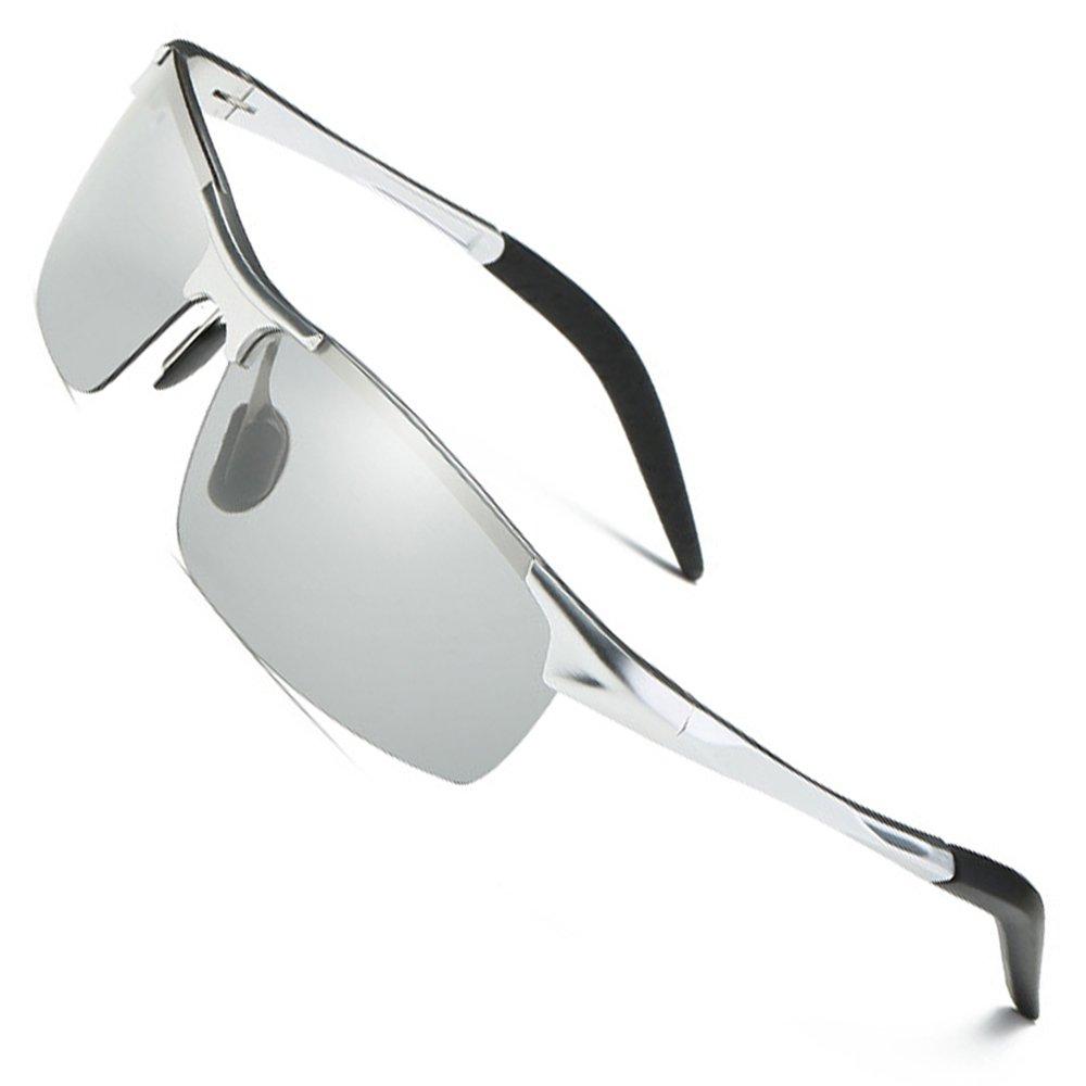 74a11a33ce6 MOTELAN Men s Photochromic Polarized UV400 Sunglasses for Outdoor ...