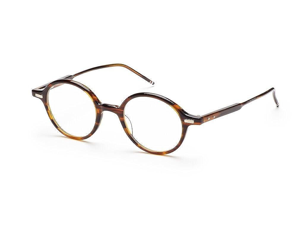 0f17ed33acdd Amazon.com  Thom Browne TB-407-B-WLT-46 Eyeglasses Tortoise Brown w Demo  Lens 46mm  Clothing