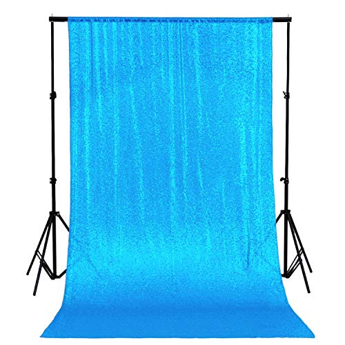 ShinyBeauty Sequin Backdrop 4FTX6FT-Turquoise Backdrop Photography and Photo Booth Backdrop for Wedding, Party, Photography, Curtain, Birthday, Christmas, Prom Decoration & Other Event Decor