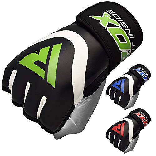 RDX Hand Wraps Boxing Inner Gel Gloves Under MMA Fist Knuckle Protector Muay Thai Fist Bandages Maya Hide Leather Padded ()