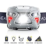 Fukkie Headlamp Flashlight, Rechargeable Waterproof LED Headlamp with 8 Light Modes, Adjustable Band, Lightweight, USB Cable, Ultra Bright 150 Lumen Perfect for Running, Camping, Hiking and Fishing