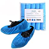Disposable Boot Shoe Covers, Waterproof Slip Resistant Shoe Booties, Durable Eco-friendly CPE Shoe Protector, Thick Shoe Cover by IDOMIK for Medical Museum Workplace Indoor Carpet Floor Usage 100 Pack