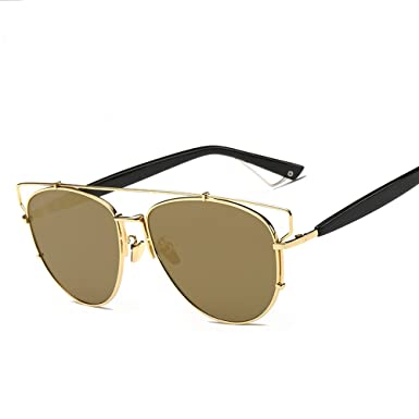 6d440800adb Amazon.com  GAMT Retro Vintage Mirrored Aviator Sunglasses Metal Frame  Glass Lens Classic Style Gold  Clothing
