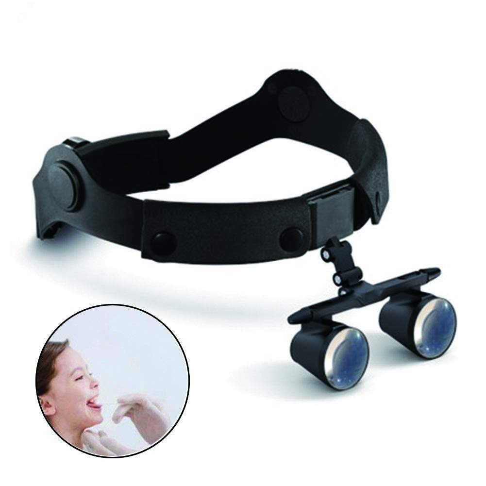 Handheld Magnifier Double Eyes Hands Free Headband Magnifier, Visor Glasses Magnifying - for Dental Medical Surgical,Jewelry Appraisal, Watch Repair and Miniature Engraving,3.5X Multipurpose Personal by LHBNH