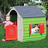Starplay 17561 Magical Realistic Playhouse, Plastic Material, Gloss Finish, Water Resistant, Easy to Assemble, Primary Colors, For Kids 3 Years and Up, Outdoor