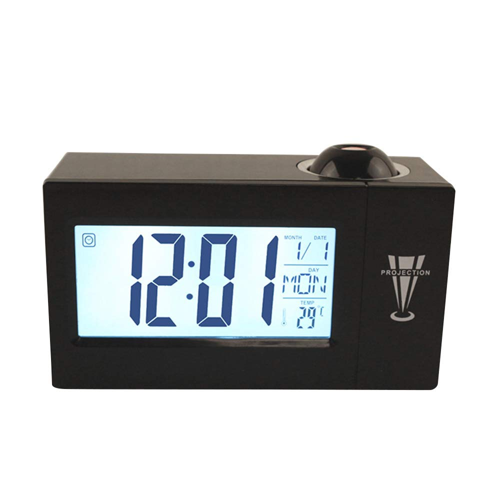 Vosarea Pantalla LED Reloj Despertador Reloj de proyección Digital ...