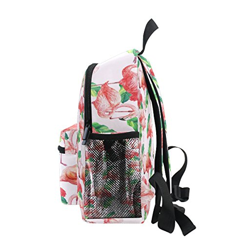 Girls Toddler Kindergarten Pre Flmingo Palm Kids for Bag Boy Tropical ZZKKO School Backpack Bird PgRO4gwq