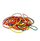 Pack of 250 Coloured Elastic Bands for Kitchen & Office Us