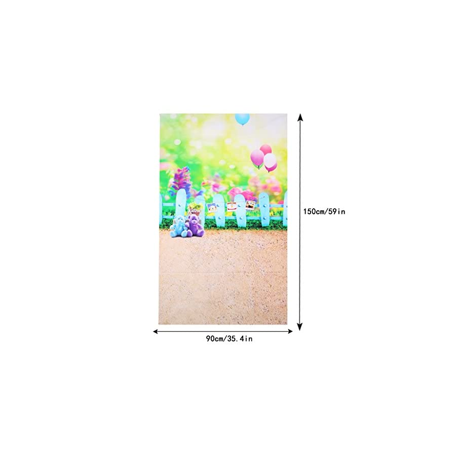 SCASTOE 3x5ft Bear Balloon Children Theme Photo Backdrops Studio Props Baby Outdoor Photo Photography Backgrounds