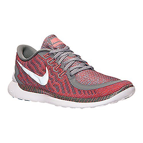 hot sale online 032dd 9d927 Nike Mens Free 5.0 Print Running Shoes Tumbled Grey/Reflect Silver/Crimson  Color Size 9.5 US