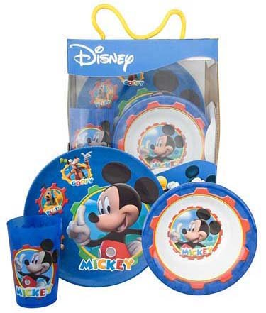 Mickey Mouse Clubhouse 3pc Dinnerware Set  sc 1 st  Amazon.com & Amazon.com: Mickey Mouse Clubhouse 3pc Dinnerware Set: Kitchen u0026 Dining