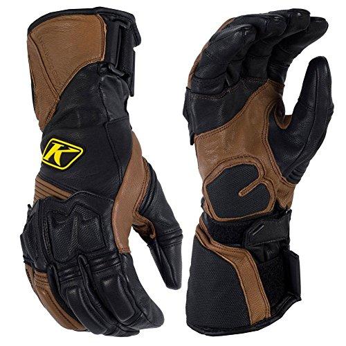 Klim Adventure Men's Dirt Bike Motorcycle Long Gloves - Brown/X-Large