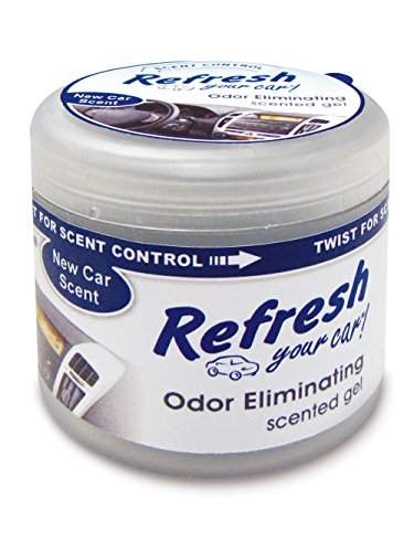 Refresh Your Car! E300879901 Scented Gel Can, 4.5 oz, New Car ()