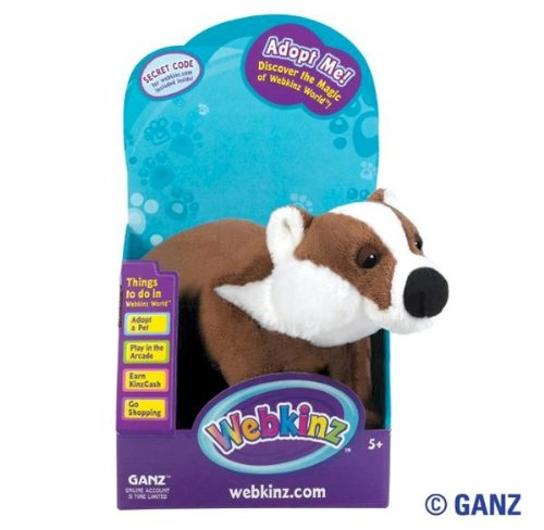 Webkinz Badger in Box with Trading Cards