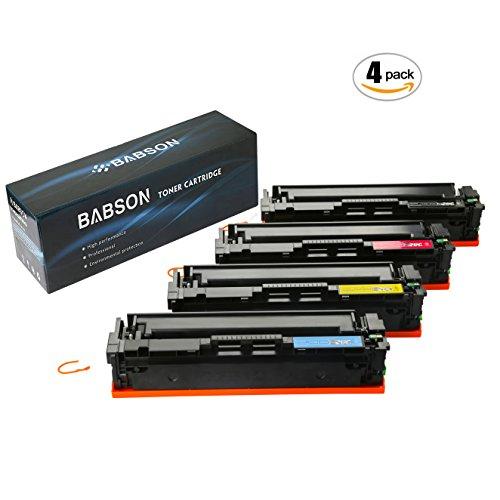 BABSON Compatible HP 201X HP CF400X CF401X CF402X CF403X HP CF400A High Yield Toner Cartridge use for HP Color LaserJet Pro MFP M277dw M277n M252dw M252n, 4 (Blue Hewlett Packard Printer Cartridge)
