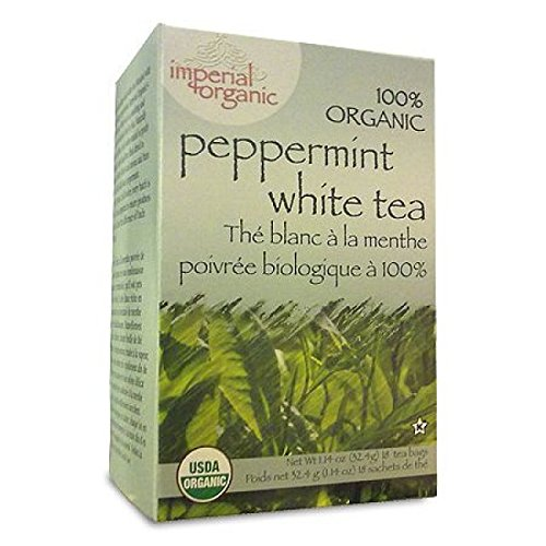 100% Organic Peppermint White Tea 18 - Organic Tea White Peppermint