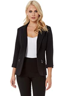 af5f01e05 Roman Originals Women Two Tone Lace Jacket - Ladies 40% Cotton ...