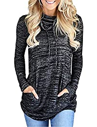 Simaer Women Sweatshirts Lightweight Sport Hoodies with Kangaroo Pockets Thin Top