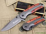 The Primo Company Browning DA43 Titanium Folding Knife Blade With Rosewood Handle. Pocket Knife, Camping Knife, Hunting Knife and Survival Knife by