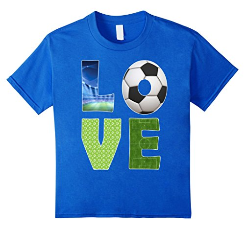 Soccer Player Girl Costume (Kids I Love Soccer Shirt Cool Soccer Player T-Shirt 10 Royal Blue)
