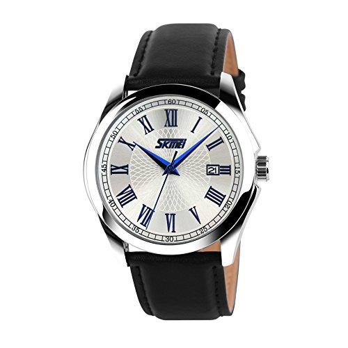 Venta al por mayor los hombres de cuarzo reloj de pulsera reloj de pulsera clásico minimalista moda personalidad macho reloj macho Stude: Amazon.es: Relojes