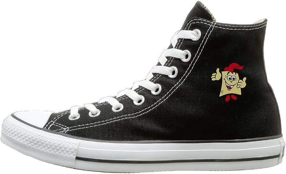 Aiguan SpongeBob Canvas Shoes High Top Casual Black Sneakers Unisex Style