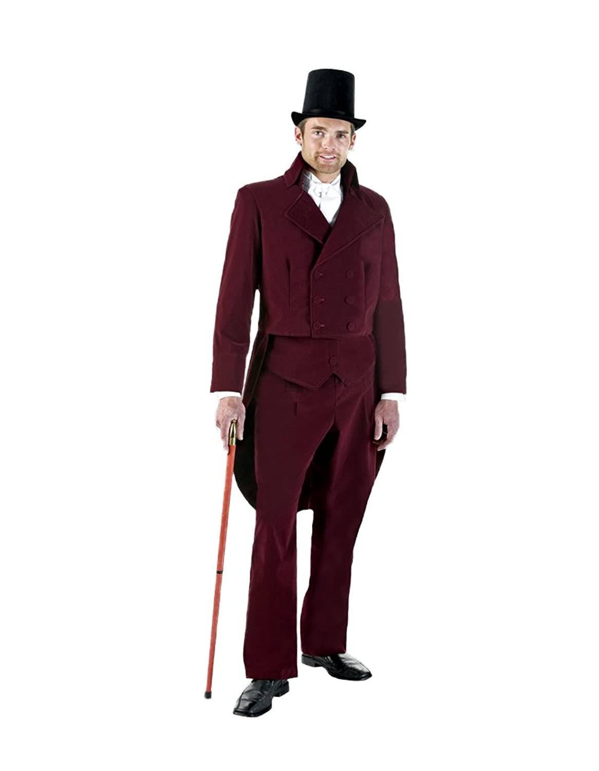 Victorian Men's Costumes: Mad Hatter, Rhet Butler, Willy Wonka Tabis Characters Mens Charles Dickens Caroler Tail Suit Theater Costume $359.99 AT vintagedancer.com