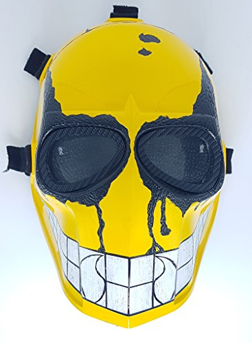 Airsoft Full Face Mask Army of two Cosplay Halloween mask Paintball YELLOW SMILEY Ghost Masks]()
